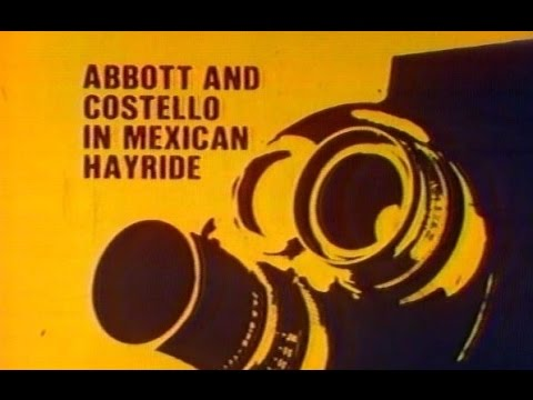 "WGN Channel 9 - Saturday Matinee - ""Abbott and Costello in Mexican Hayride"" (Open & Break, 1981)"