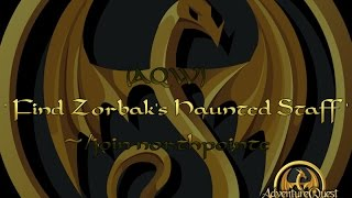aqw find zorbak s haunted staff quest join northpointe