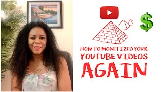 How To Monetize Your Youtube Videos again