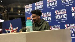 OKC Thunder - Shai Gilgeous-Alexander at the All-Star Media Day