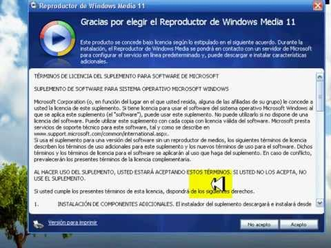 Desinstalar windows media player windows xp  (Principiantes )