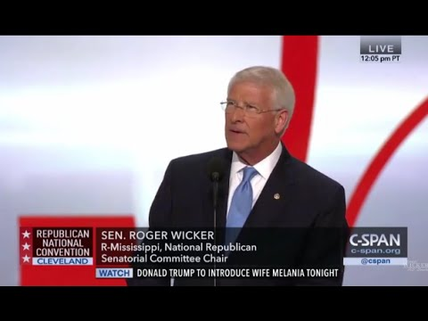 Senator Roger Wicker RNC 2016 Speech l Roger Wicker For Senate