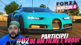 PARTICIPEI DE UM FILME COM UMA BUGATTI CHIRON! - FORZA HORIZON 4 - EP02 GAMEPLAY DA DEMO FULL HD