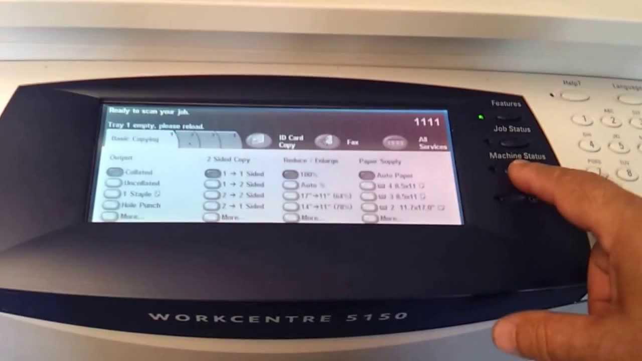 Xerox 5735, 5755, installation    How to install Xerox copier 2019