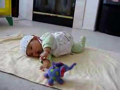 my baby turn over - YouTube
