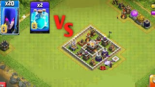 20 MAX Witch And 2 MAX Clone Spell VS TH11 | Clash...
