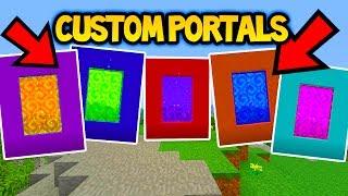 MINECRAFT TU55/TU56 CUSTOM PORTALS TUTORIAL! (Ps3/Xbox360/PS4/XboxOne/WiiU)