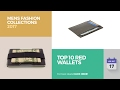 Top 10 Red Wallets Mens Fashion Collections 2017