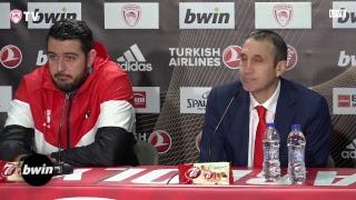 Live EuroLeague Post-Game Press Conference: Olympiacos Piraeus - Khimki Moscow Region