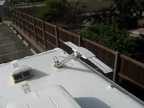 Motorhome Tv Antenna And Solar Panels Youtube