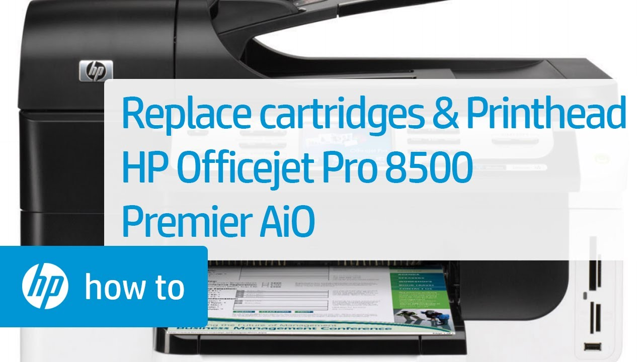 Replacing Cartridges And Printhead Hp Officejet Pro 8500