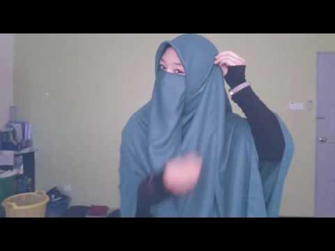 Tutorial Niqab Cadar Untuk Hijaber By Scha Myiera Youtube