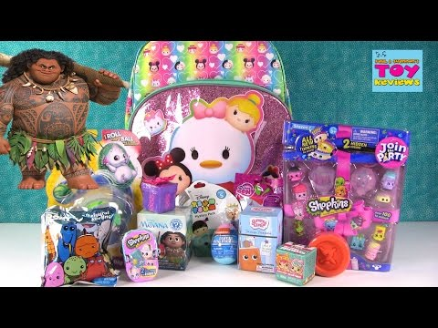 Little Live Pets Gift Ems Shopkins Moana Disney Surprise Backpack Opening | PSToyReviews