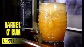 🍹🍹 How To Make The Barrel O' Rum / Tiki Drink Month