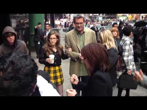 The Middle Cast signing and posing with  at GMA  TheMiddle100 in NYC
