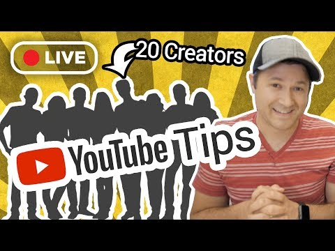 Top YouTube Growth Tips from 20 Creators