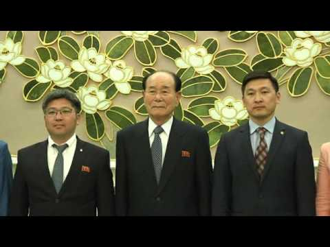 KCNA # Kim Yong Nam Meets Foreign Political Party Delegations