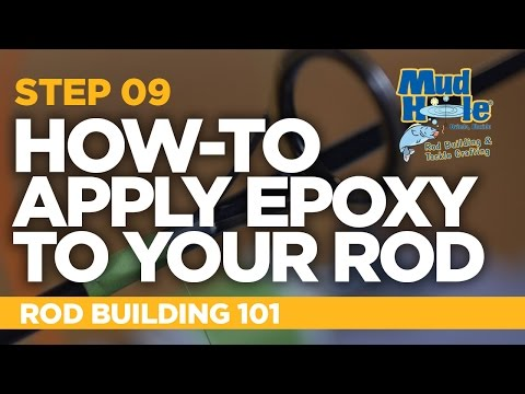 How-To Apply Epoxy To A Fishing Rod | Rod Building 101