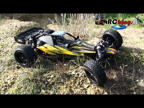 Yellow RC 1:8 Dune Racer XL video review (NL)