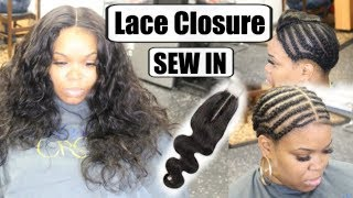 Lace Closure Sew In with THE NEW 2x6 LACE  Closure !! Wiggins Hair