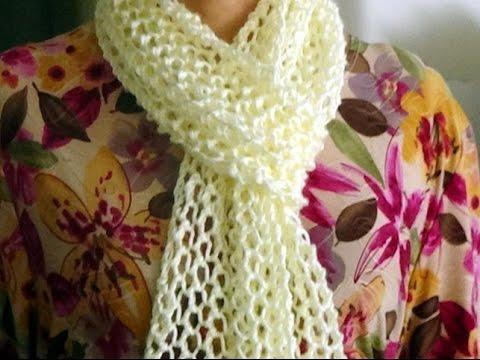 comprar popular a6526 7ce97 Cómo Tejer BUFANDA DE LUJO-Principiantes-How to Knit Scarf-REVERSIBLE- 2  Agujas (350)