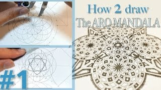 How 2 Draw - Arq Mandala Pattern - P1 (SetUp) - Sacred Geometry Video Tutorial(Download This As Free ColorSheet: https://dearingdraws.com/downloads/arq-mandala-colorsheet/ Video tutorial part 1 of