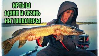 Рыбалка на Иртыше.  Ловля Щуки и Окуня на поверхностные приманки.  Щучье-Окуневое эльдорадо.
