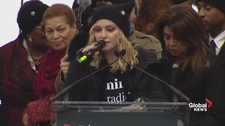 Madonna says good will win in the end during Women's March on Washington