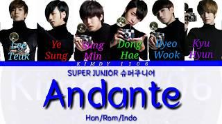 SUPER JUNIOR 슈퍼주니어 'Andante' Color Coded Lyric [Han/Rom/Indo]