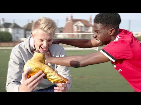 Kid tried to STEAL my RONALDO $10,000 GOLDEN Football Boots!