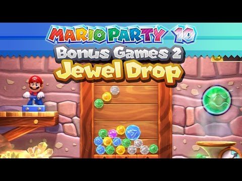 Mario Party 10 - Bonus Games Part 2: Jewel Drop Gameplay!