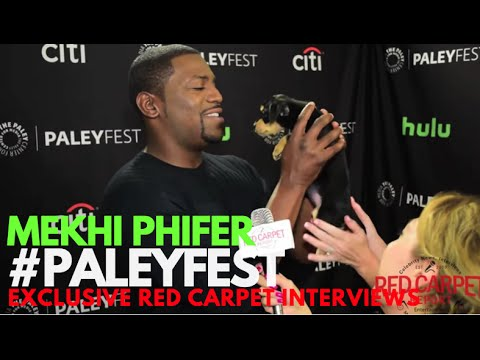 Mekhi Phifer interviewed at PaleyFest Fall Preview 2016 for CW's Frequency #PaleyFest