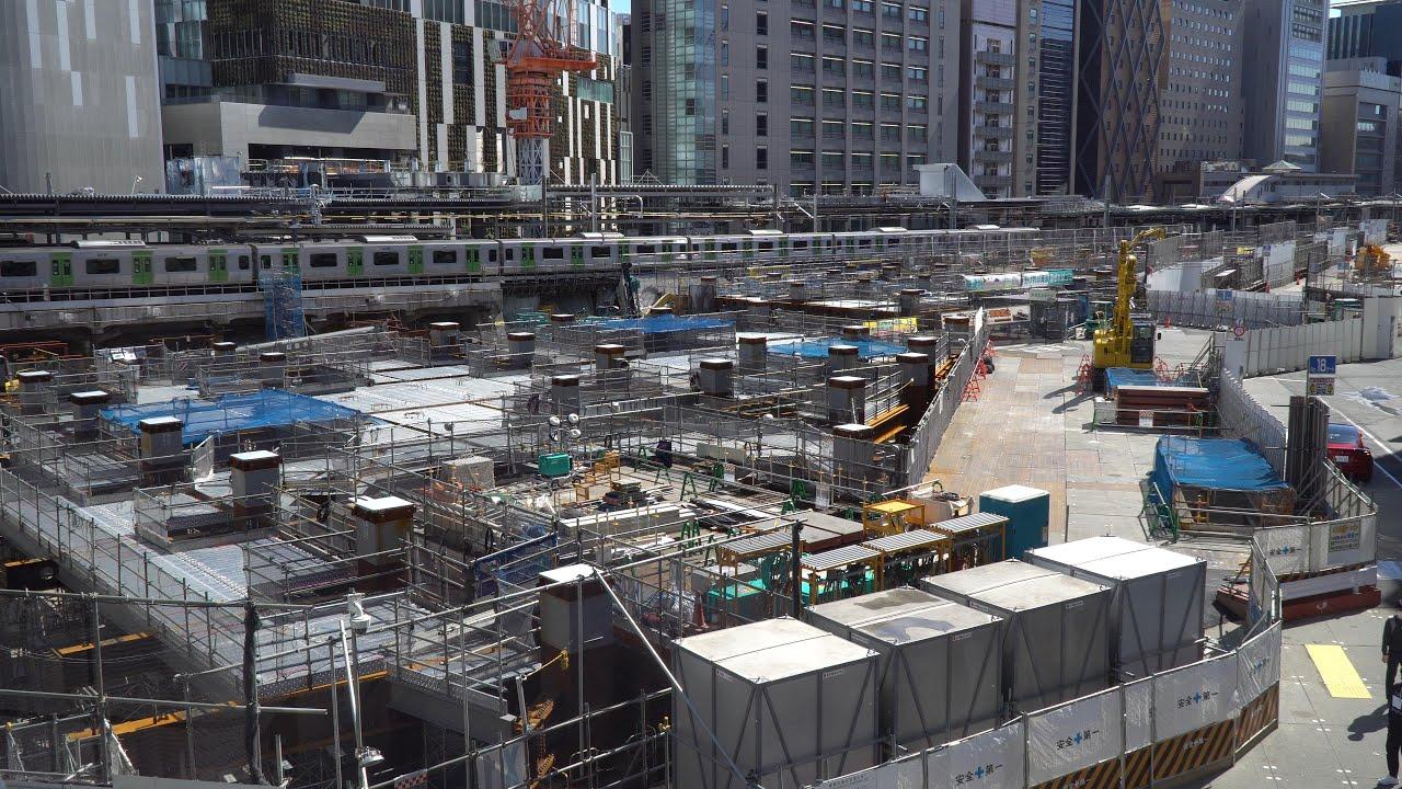 渋谷駅桜丘口地区再開発計画の建設状況(2021年3月14日)