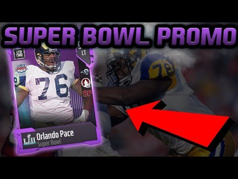 LIMITED EDITION ORLANDO PACE | MADDEN 18 SUPER BOWL PROMO