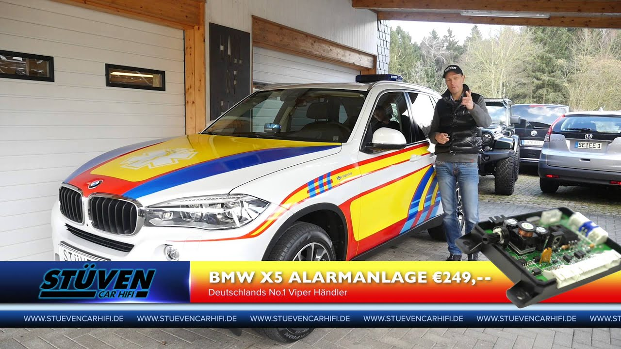 bmw x5 f15 x6 f16 test alarmanlage ampire viper st ven car. Black Bedroom Furniture Sets. Home Design Ideas