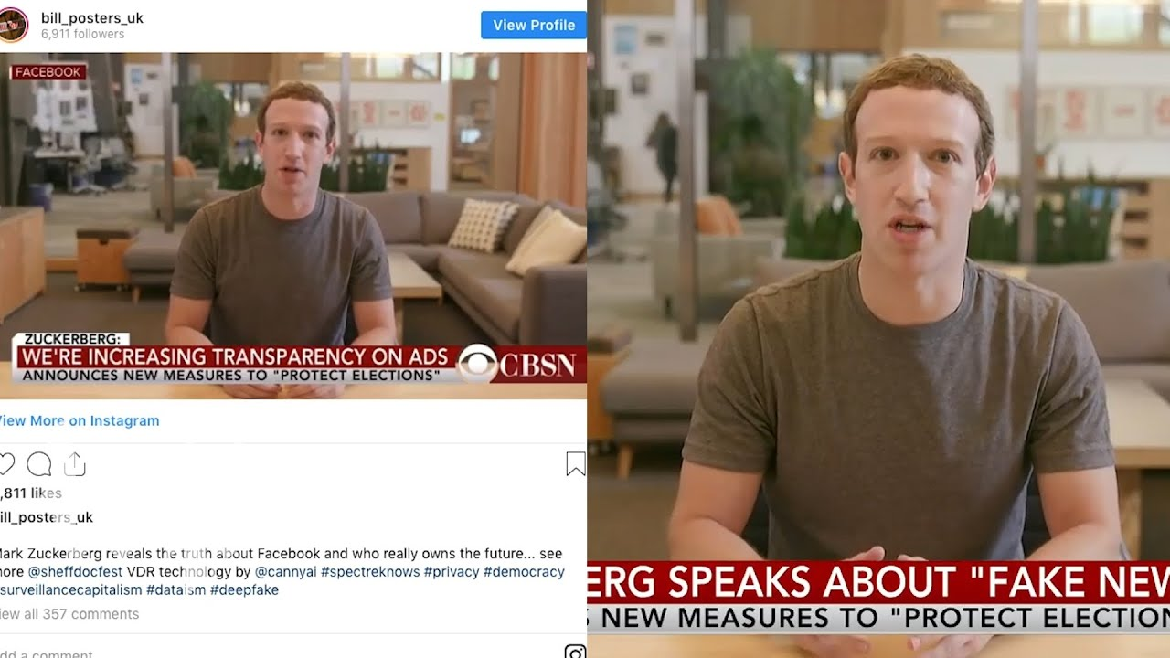 Zuckerberg isn't ready for deepfakes