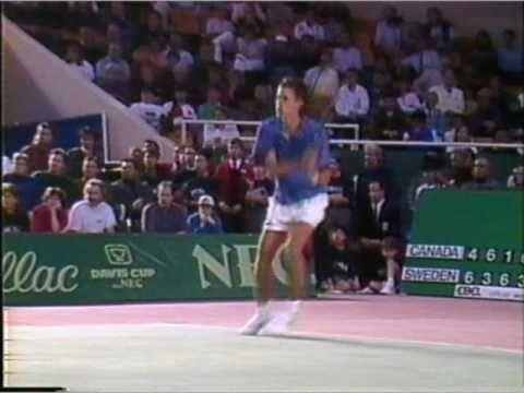 Daniel Nestor vs Stefan Edberg Davis Cup 1992