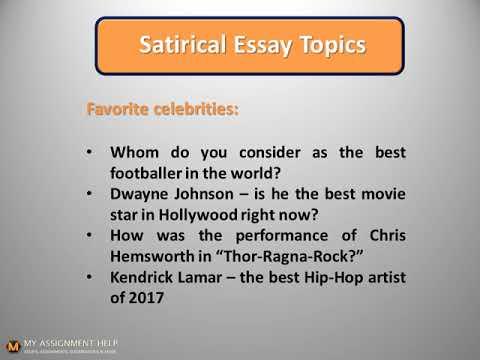 Satire essay topics