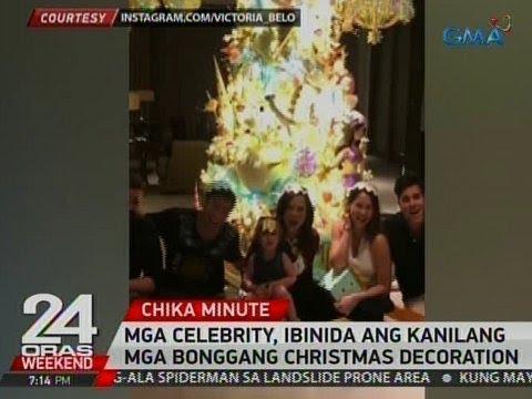 24 Oras: Mga celebrity, ibinida ang kanilang mga bonggang Christmas decorations