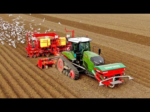 A day of potato planting | 405HP Fendt 940MT vario & 8-row Grimme GL860 | L.B. van Nieuwenhuijzen