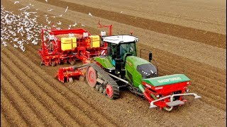 A day of potato planting | 405HP Fendt 940MT vario & 8-row Grimme GL860 | L.B. van Nieuwenhuijzen