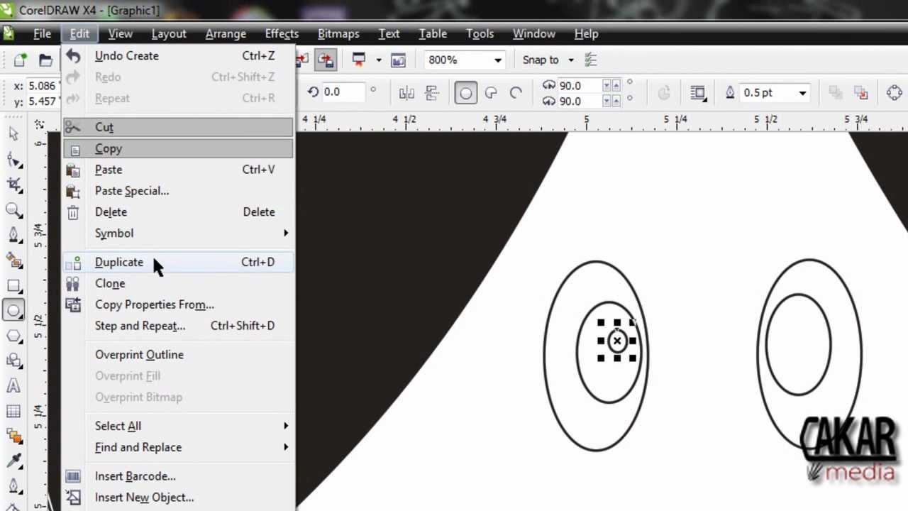 Cara Membuat gambar sederhana dengan corel draw x4 YouTube