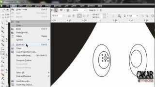 Cara Membuat gambar sederhana dengan corel draw x4