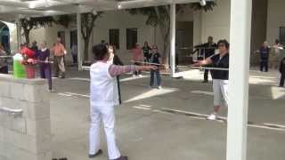 Longevity stick exercises by Ursula and Chester Wu,  2013 06 18