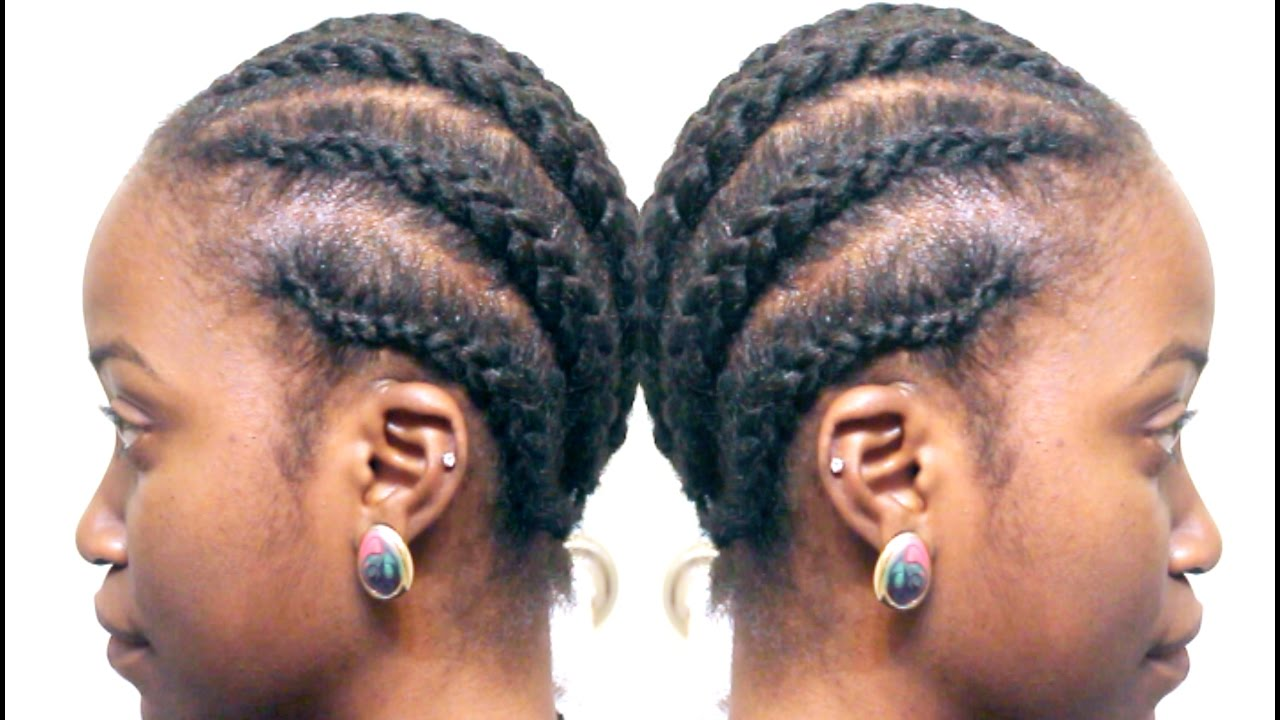 HOW TO CORNROW YOUR HAIR + BRAIDING PATTERN UNDER WIGS