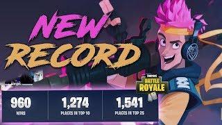 *960 WINS* Best Kills EVER! Fortnite Battle Royale Highlights - Ninja 29/03/2017