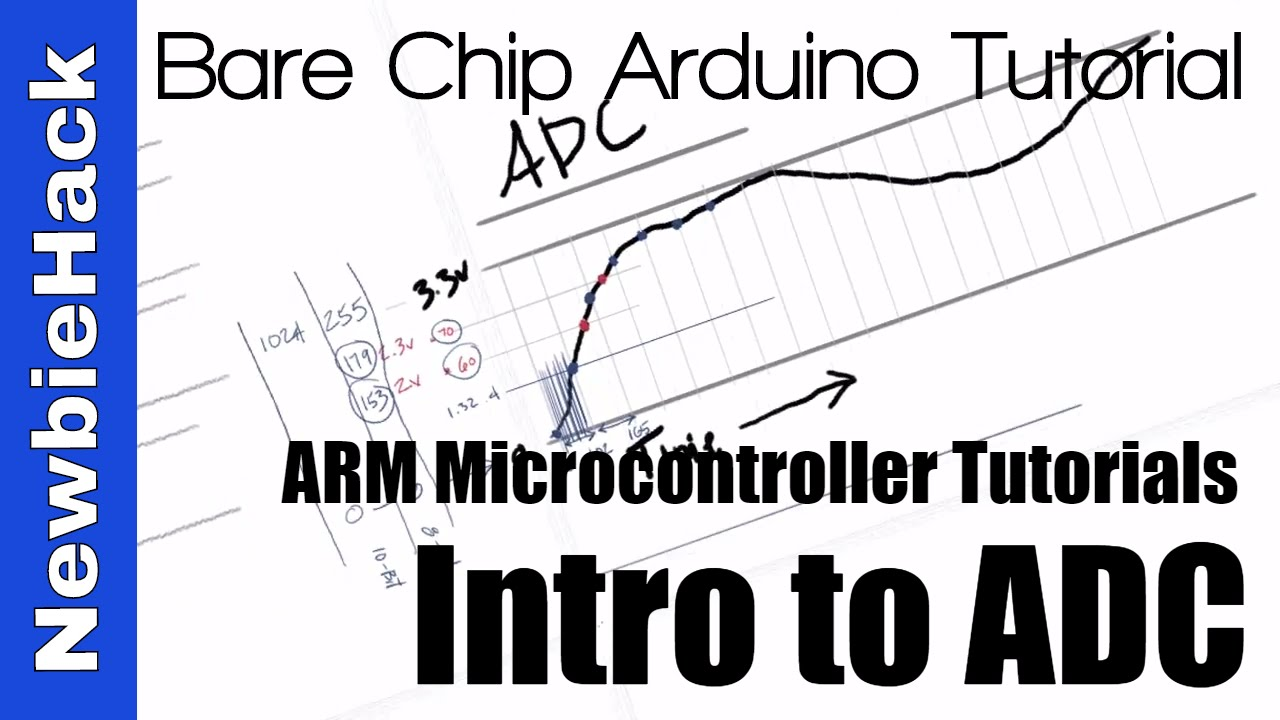 32  How to use the ADC (analog to Digital Conversion) for ARM  Microcontrollers Tutorial and Intro