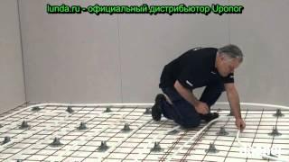 Монтаж напольного отопления Uponor. Арматурная сетка.(, 2015-11-17T12:19:13.000Z)