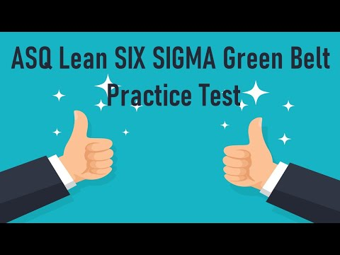 ASQ  Lean SIX SIGMA Green Belt Practice Test