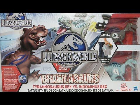 JURASSIC WORLD BRAWLASAURS - Battle Set - New Movie Toys by Hasbro
